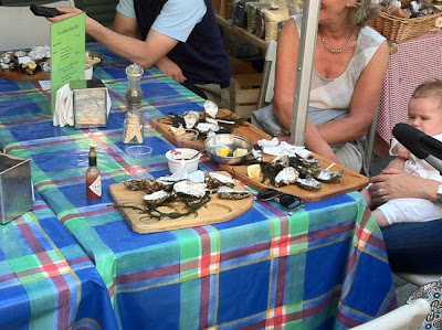 Fresh oysters from St Martin Shellfish, Temple Bar Food Market, Dublin