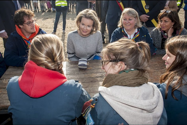 Queen Mathilde of Belgium attend the celebrations for the 100th anniversary of youth movement 'Catholic Guides in Belgium' (Guides Catholiques de Belgique) in Namur,
