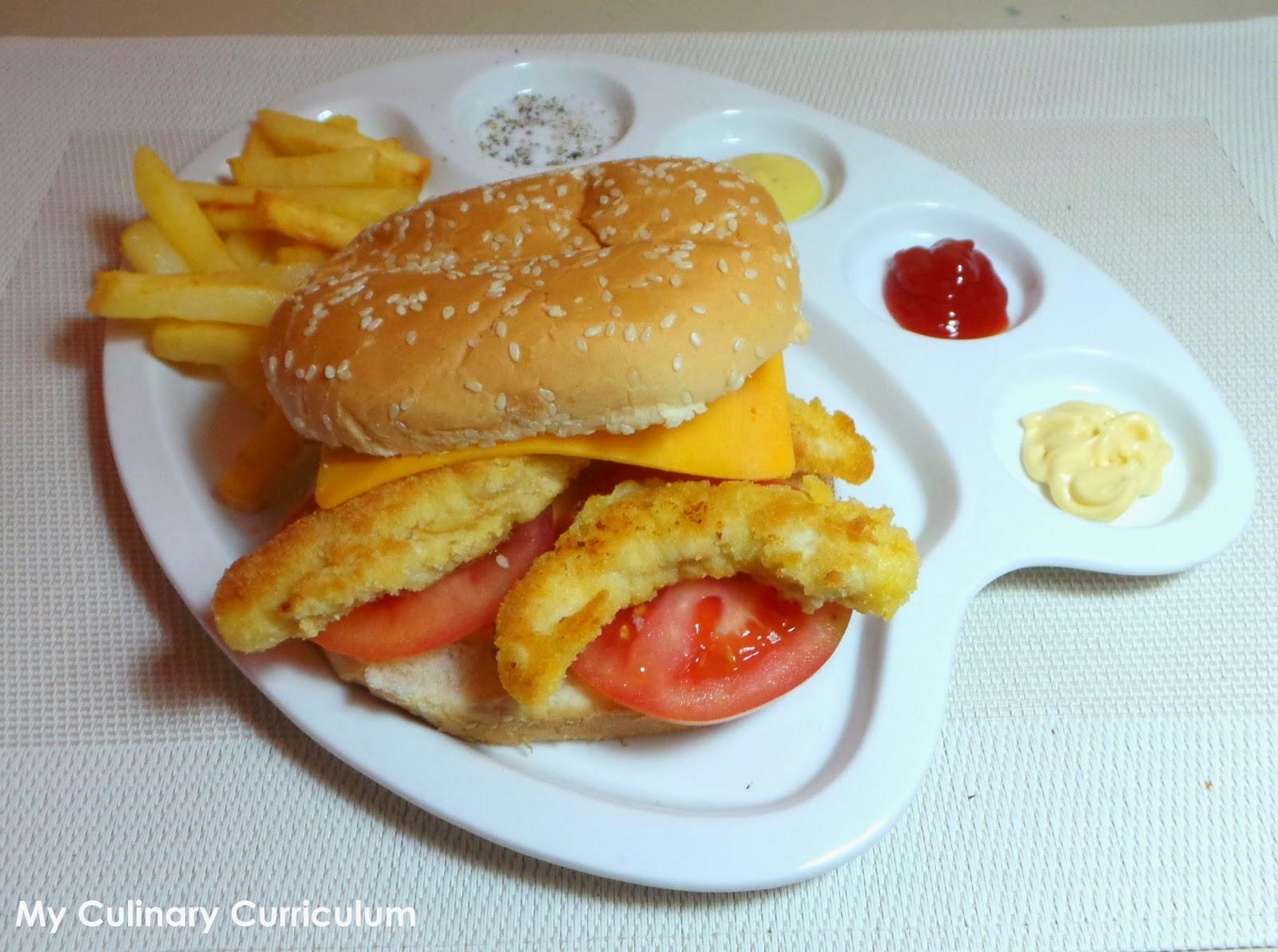 my culinary curriculum burger de poulet pan maison homemade breaded chicken burger. Black Bedroom Furniture Sets. Home Design Ideas