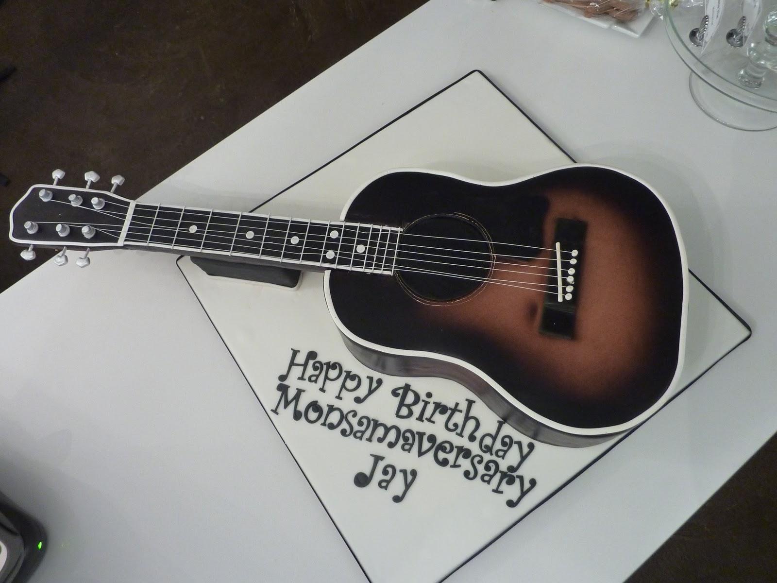 Guitar Cake Template