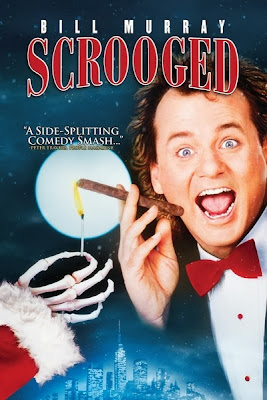 Scrooged (released by 1988) - Christmas ghosts starring Bill Murray, Karen Allen, Bobcat Goldthwait, and John Forsythe