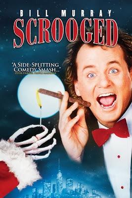 Scrooged (released by 1988) - Christmas ghosts starring Bill Murray, Karen Allen, Bobcat Goldthwait, and John Forsythe