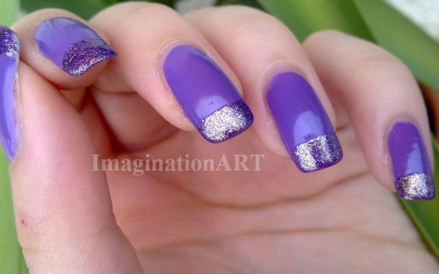smalto_nai_unghie_laquer_polish_nailart_viola_violet_glitter_french_manicure_semplice_simply_simple