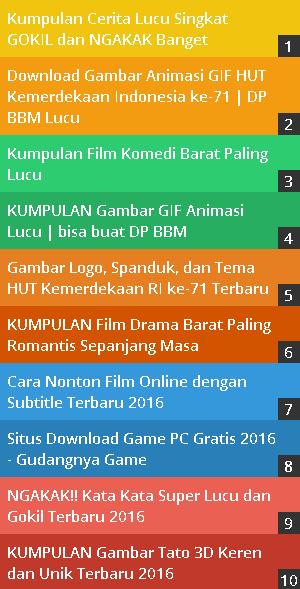 widget popular posts berwarna