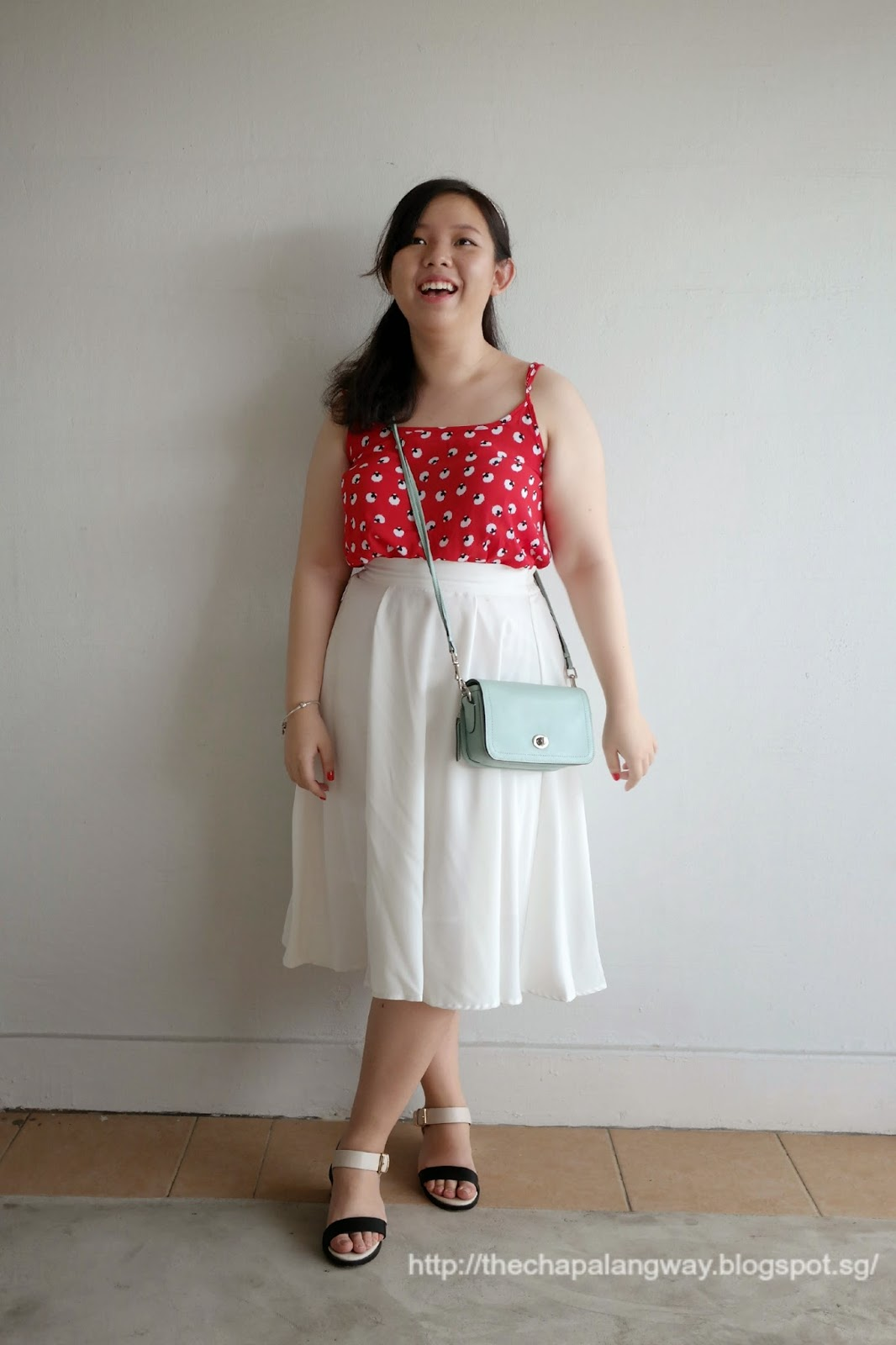 cotton on sheep top; white midi skirt styling; boho chic dressing, chinese new year, ootd