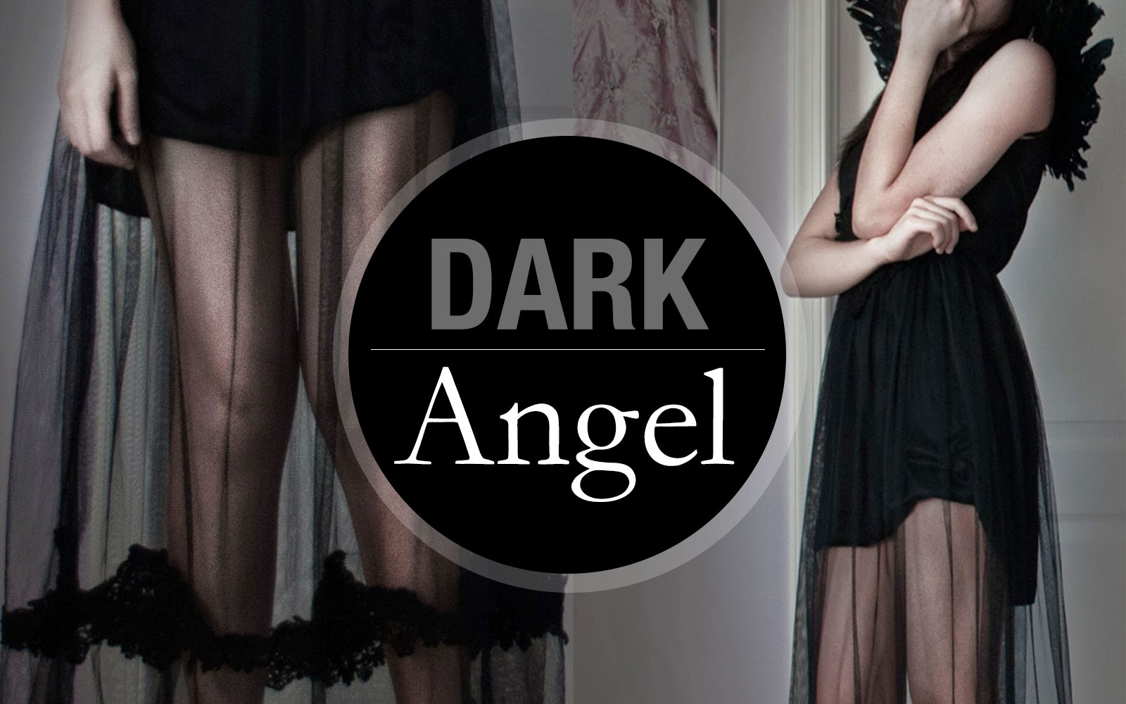 Dark Angel Halloween Look: Create a last-minute Halloween costume with just a sheer maxi dress, black wedges, and a set of angel wings