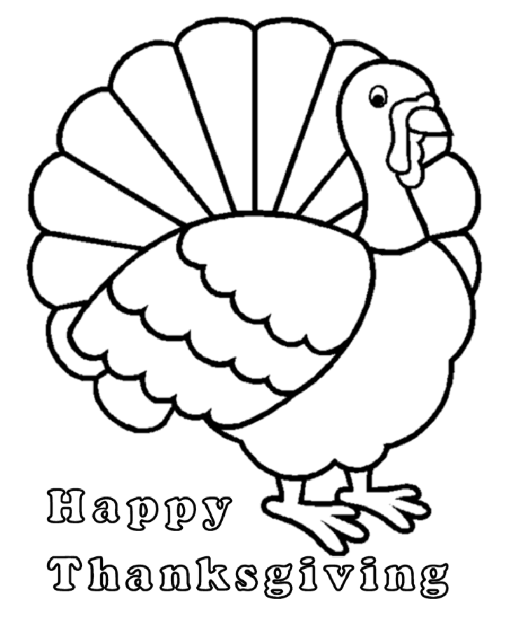kids turkey coloring pages free - photo#2