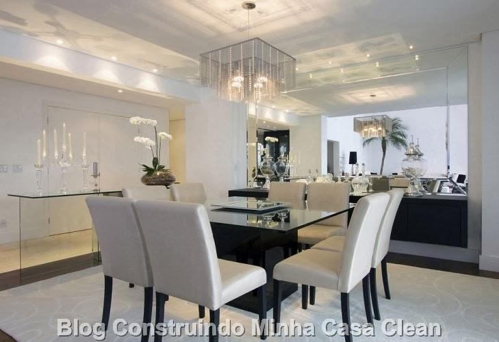Sala De Jantar Com Janela De Vidro ~ Construindo Minha Casa Clean Como Decorar a Sala de Jantar?