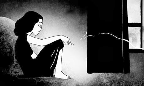persepolis, estoy sola, tengo miedo a estar sola, frases de amor