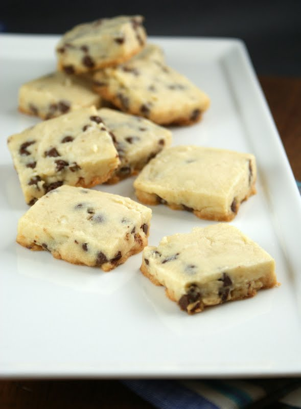 Chocolate Chip And Toffee Shortbread Cookies Recipe — Dishmaps