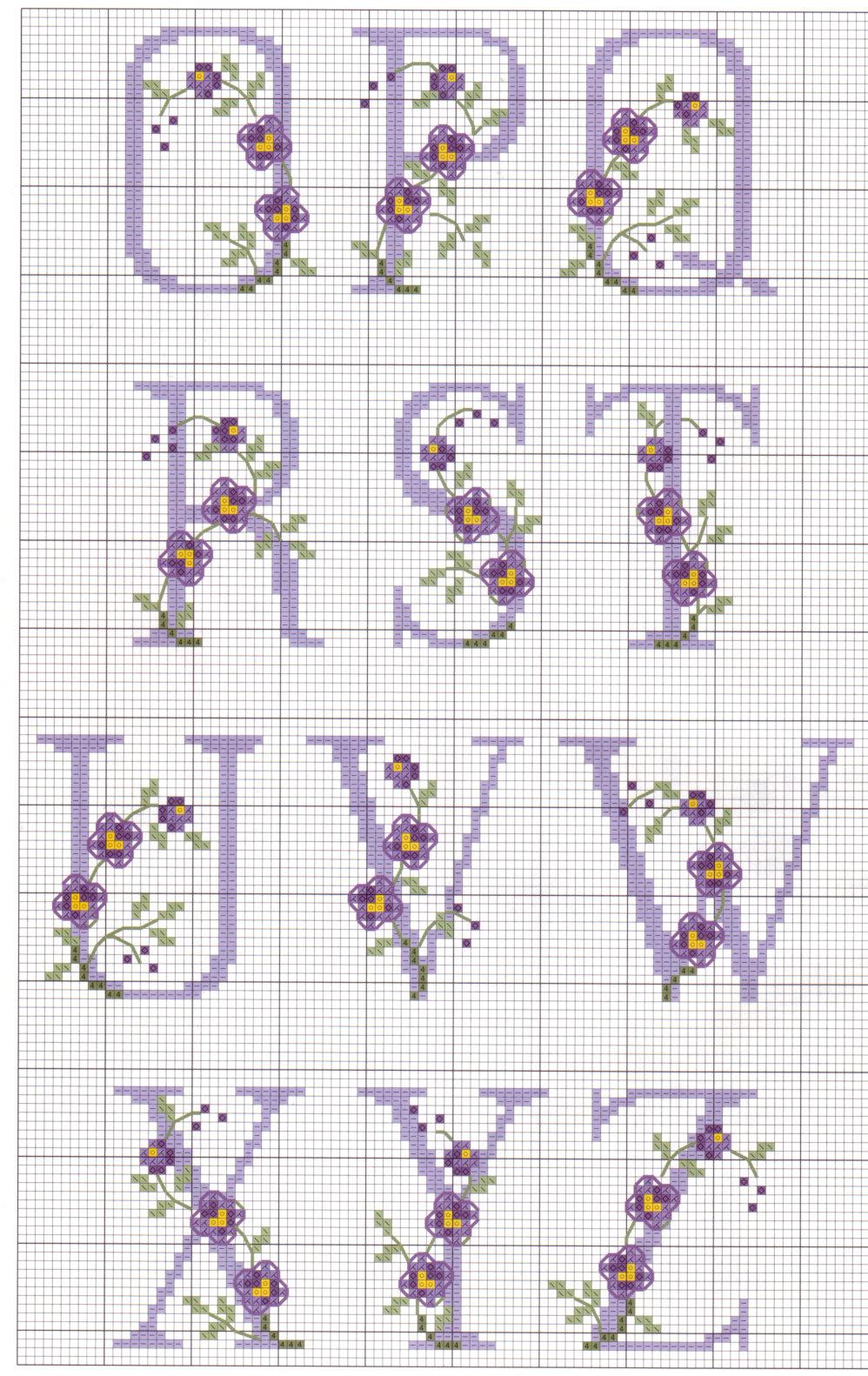 Grande raccolta di schemi e grafici per punto croce free for Schemi punto a croce alfabeto