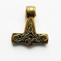 купить бронзовый кулон молот тора скандинавская тематика