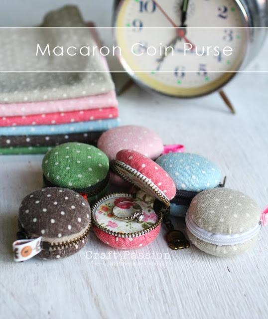 macaron coin purse crafts