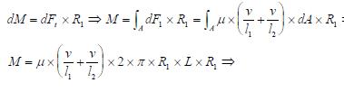 Fuerzas infinitesimales de la Ley de Newton de la viscosidad dibujo ejercicio 3