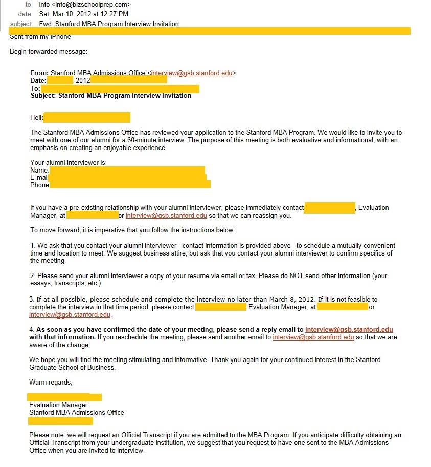 Bizschoolprep blog stanford r2 interview invite call altavistaventures Images