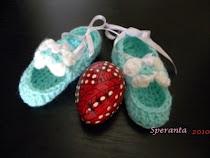 "CREATII PROPRII pantofiori bebe ""blue"""