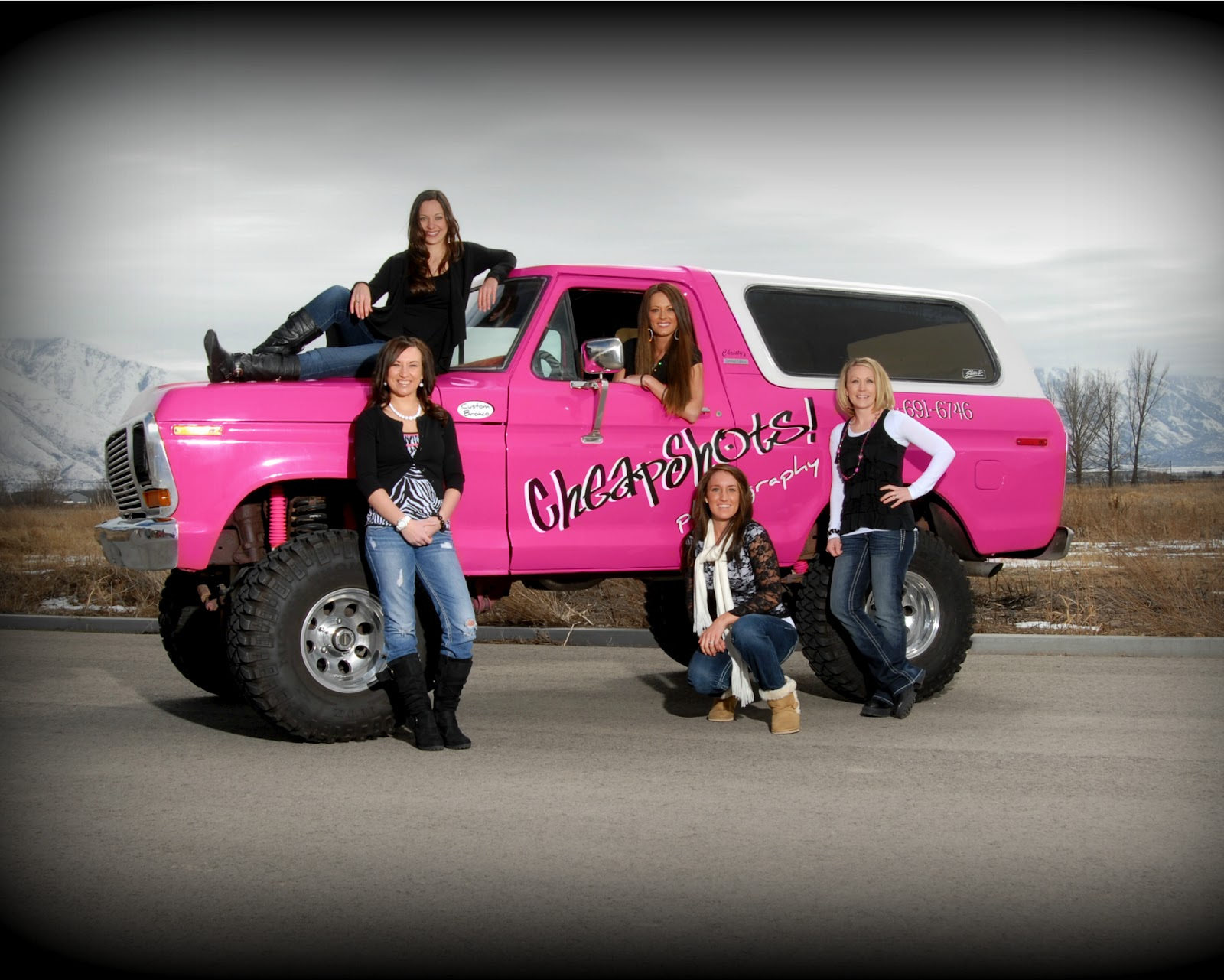 Hot Pink Ford Bronco Cheapshots Photography