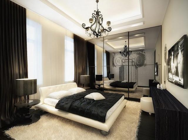DORMITORIOS DE LUJO BLANCO Y NEGRO VINTAGE MODERNO by dormitorios