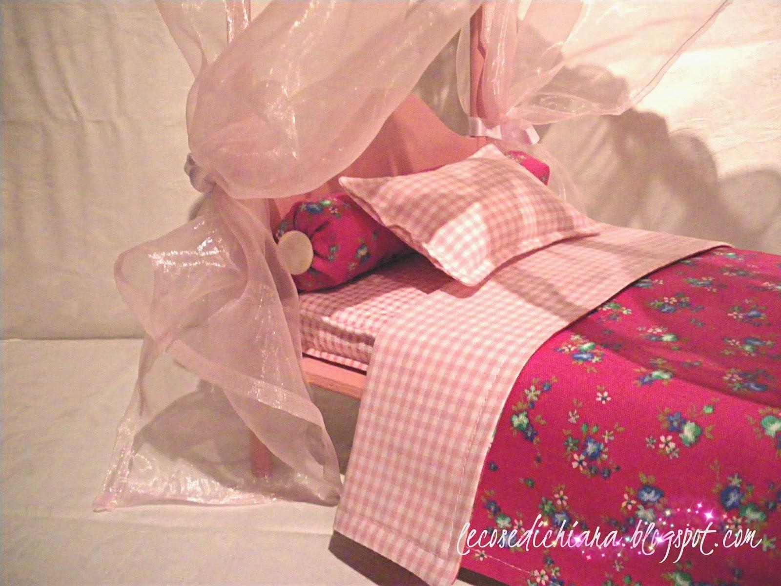Lecosedichiara tutorial il letto a baldacchino di barbie - Struttura per letto a baldacchino ...