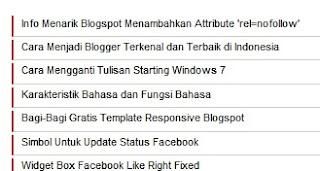 Cara Membuat Tampilan Posting Di Home Page Hanya Judulnya Saja