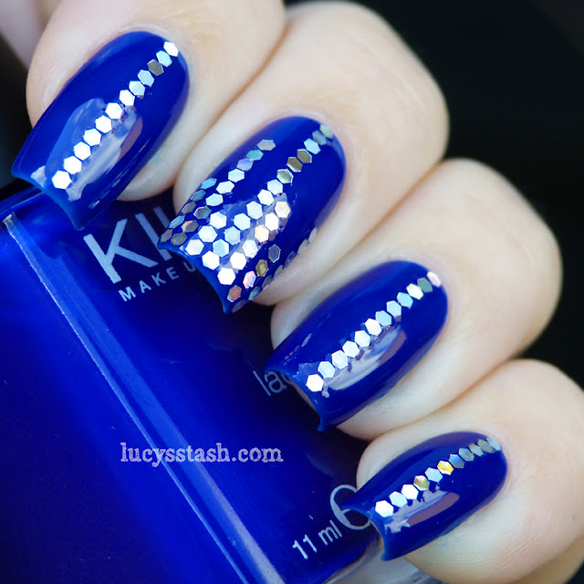 Lucy's Stash - Glitter Disco nails manicure with KIKO 335