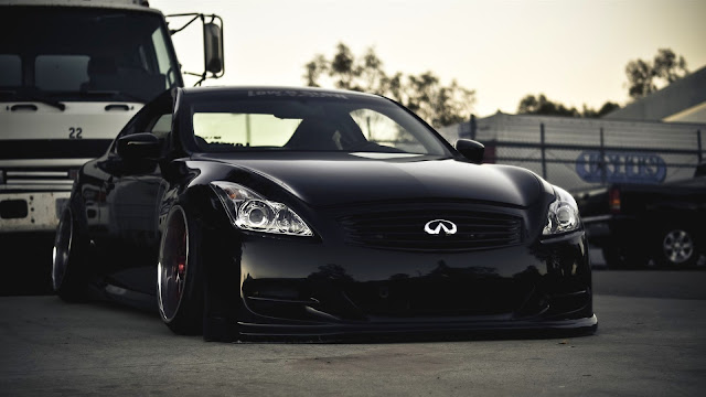 Black Infiniti G37 Car HD Wallpaper