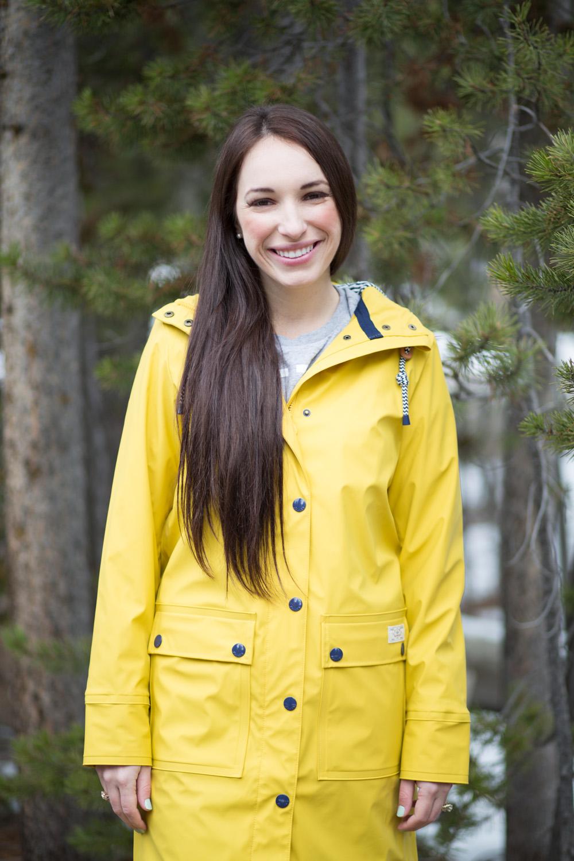 Joules USA Women's Rubber Coated Mac, in Corn Yellow