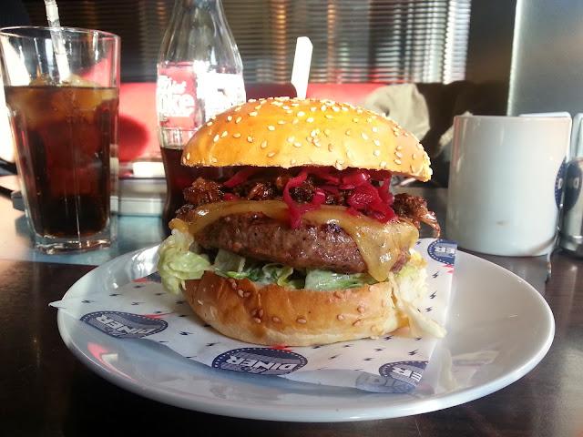 The Diner Santa Burger