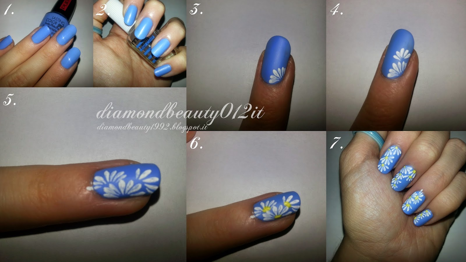nail art margherite tutorial completo passo a passo