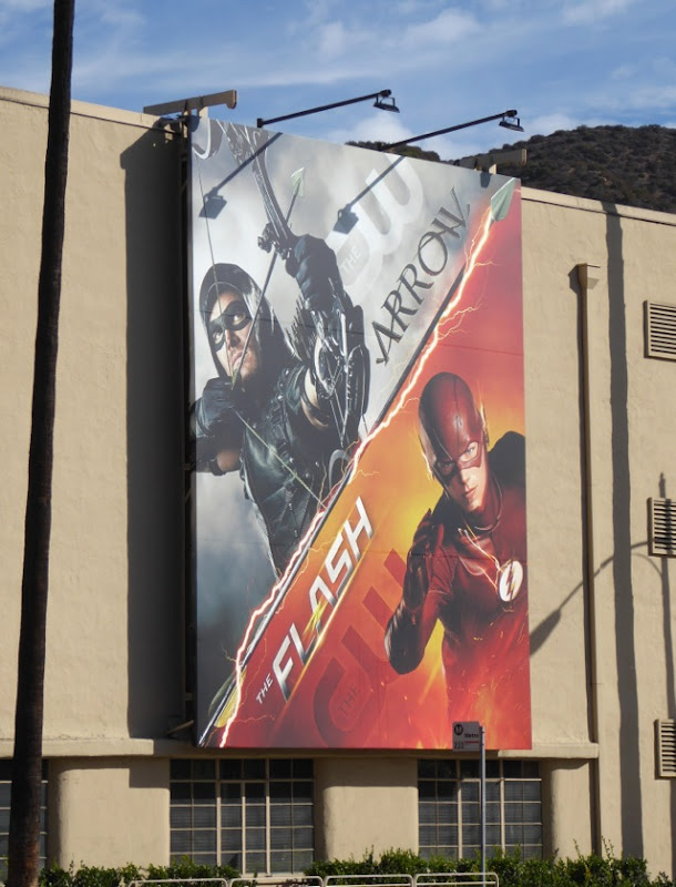Arrow Flash TV billboard