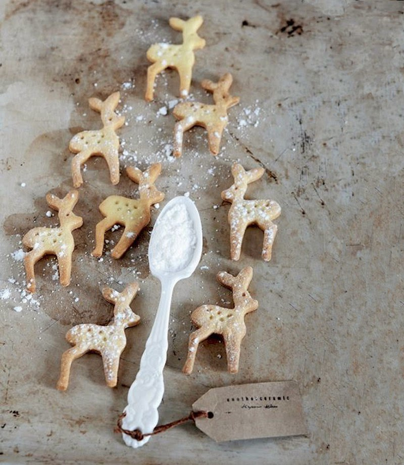 decoración navideña con un bambi