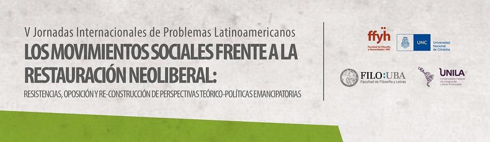 V Jornadas Internacionales de Problemas Latinoamericanos