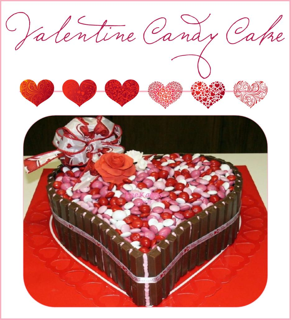 Valentine S Day Chocolate Cake Images : It s Written on the Wall: {Valentine s Day} M&M s. KitKats ...