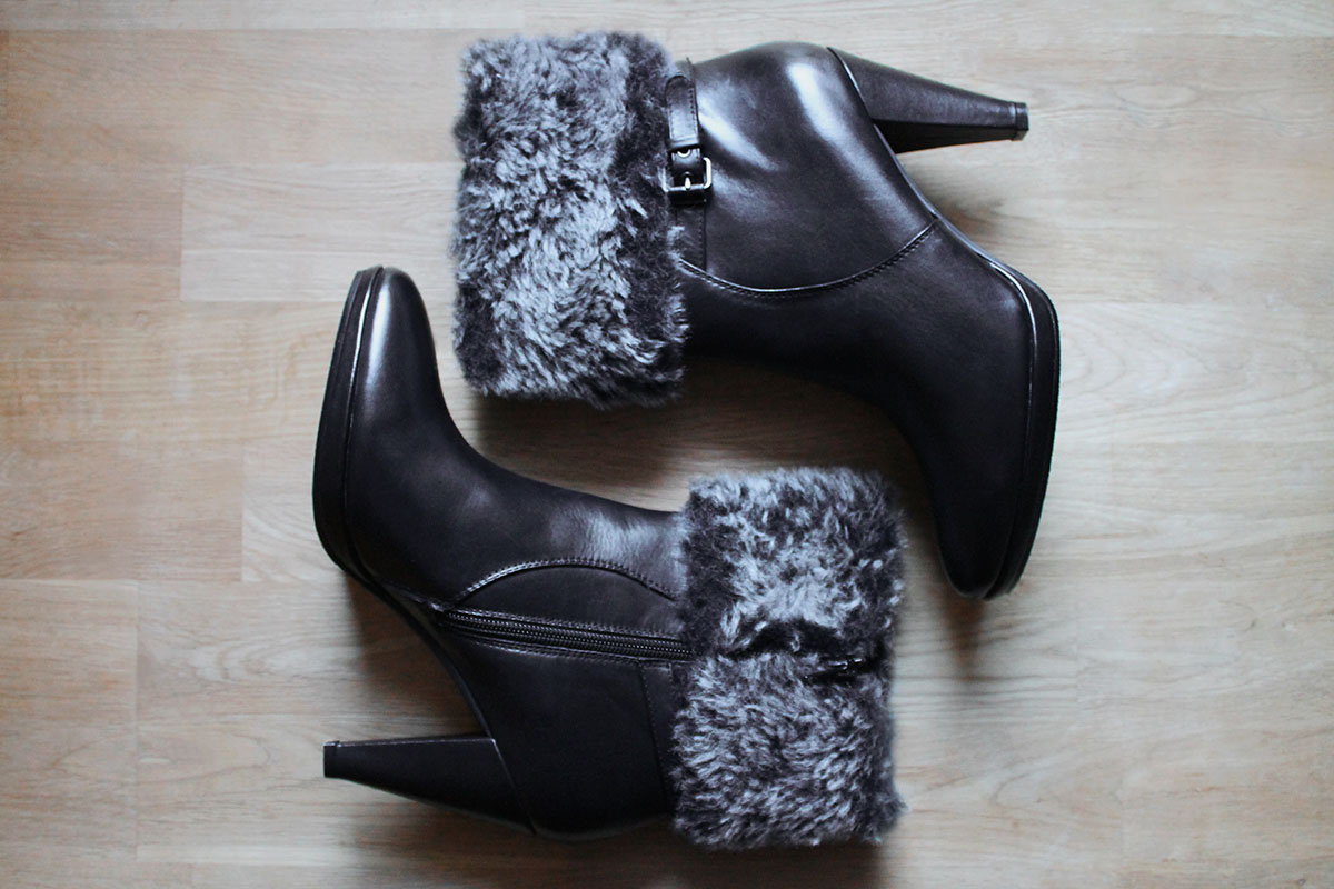 Bruno Premi, fur booties, leather, Italian brand