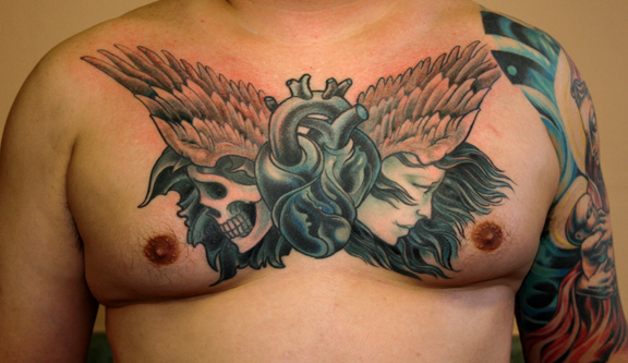 pictures chest tattoos most popular
