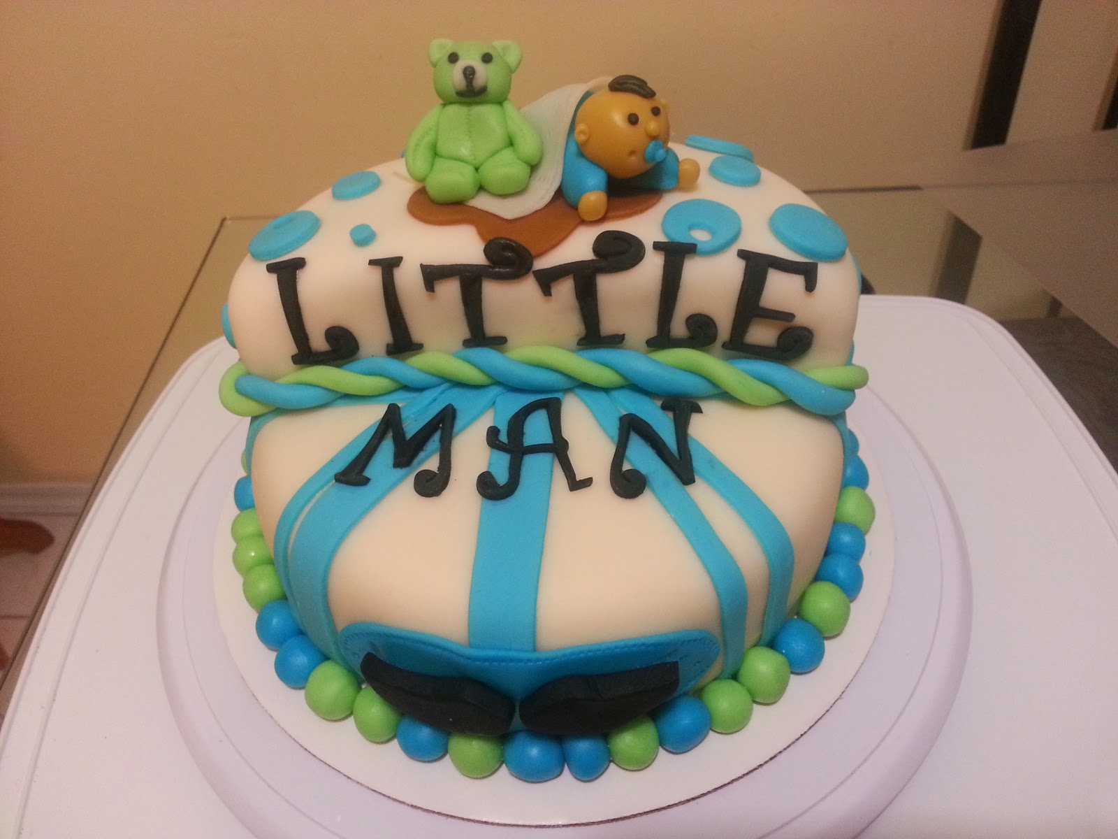 swaggy simple cakes little man baby shower fondant cake
