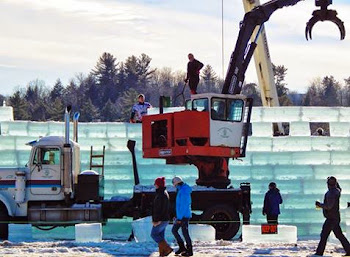 Ice Castle Construction Underway in Saranac Lake