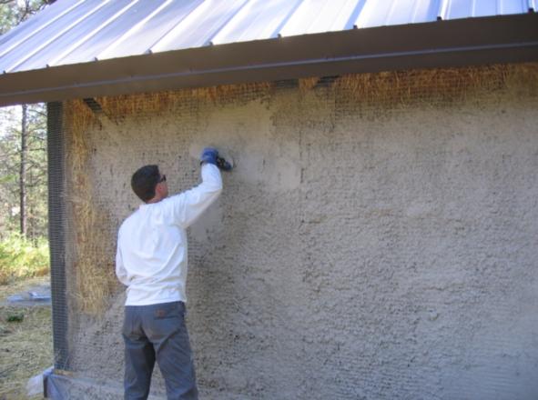 Соломенный дом отделка стен