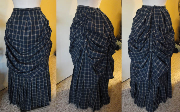 Festive Attyre: a finished bustle skirt
