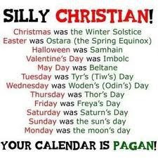 Galatians 4: Even The PAGANS know CHRISTMAS IS PAGAN