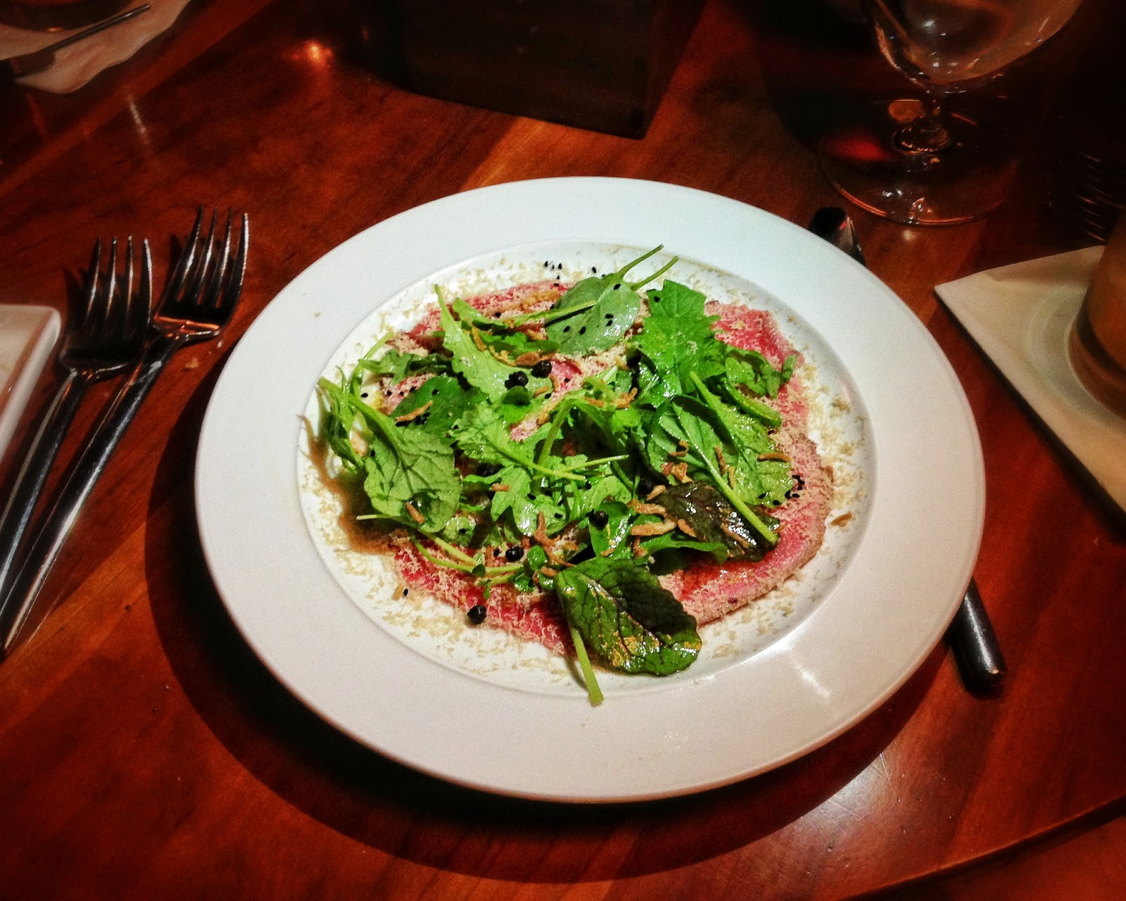 Beef Carpaccio at 610 Magnolia located in Louisville Kentucky
