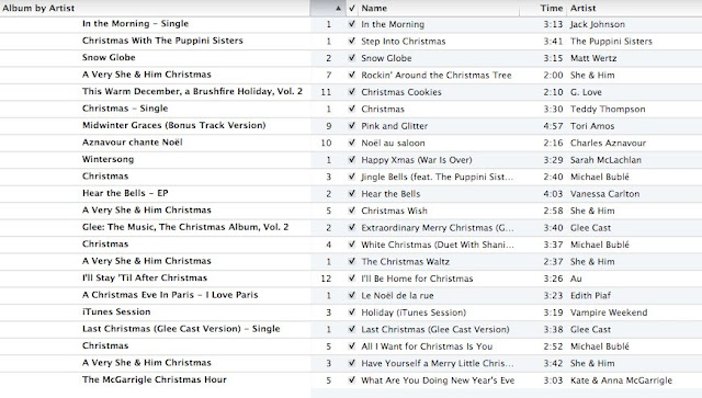 Julian's Christmas Song List | Unordered List Adventures