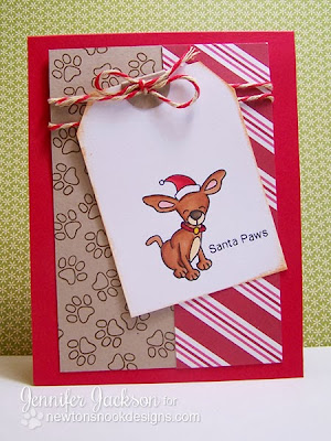 Santa Paws Chihuahua card using Canine Christmas by Newton's Nook Designs