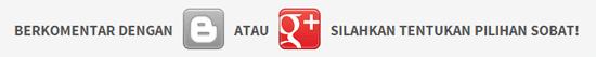 komentar blogger dan google plus