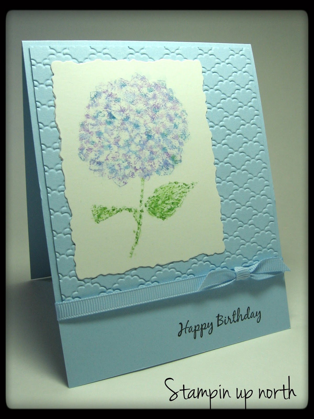 Stamping up north with laurie stampin birthday card