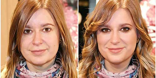 Maquillaje smokey eyes marron antes y despues