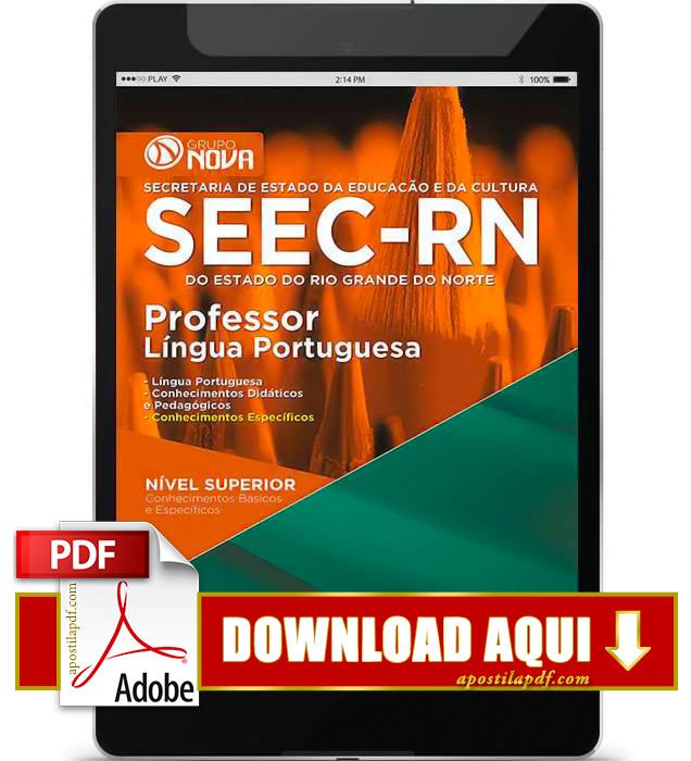 Apostila SEEC RN 2015 Professor Língua Portuguesa PDF Download