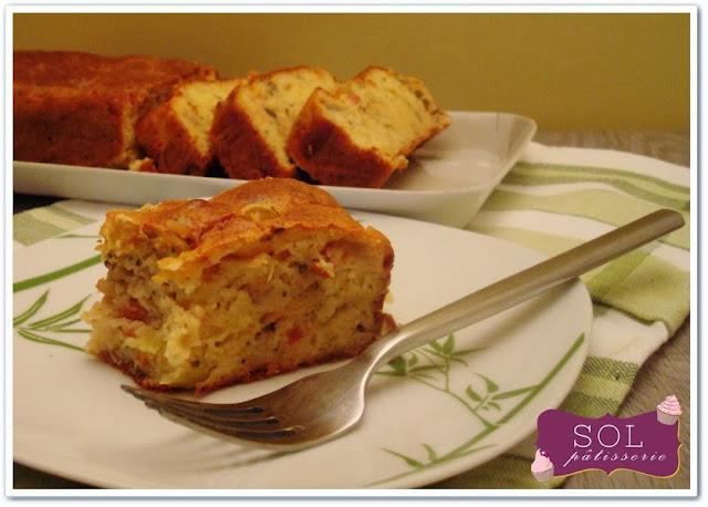Cake à la ratatouille - Bolo de ratatouille