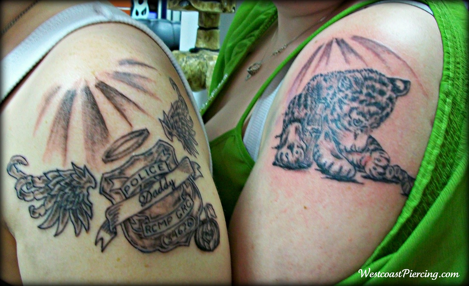 Westcoast piercing and ink sisters receive touching for Sister memorial tattoos