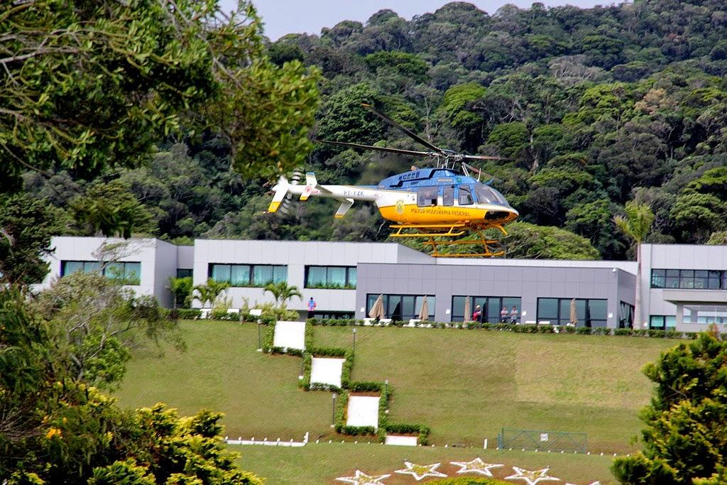 Aparato de segurança conta com helicópteros da PRF